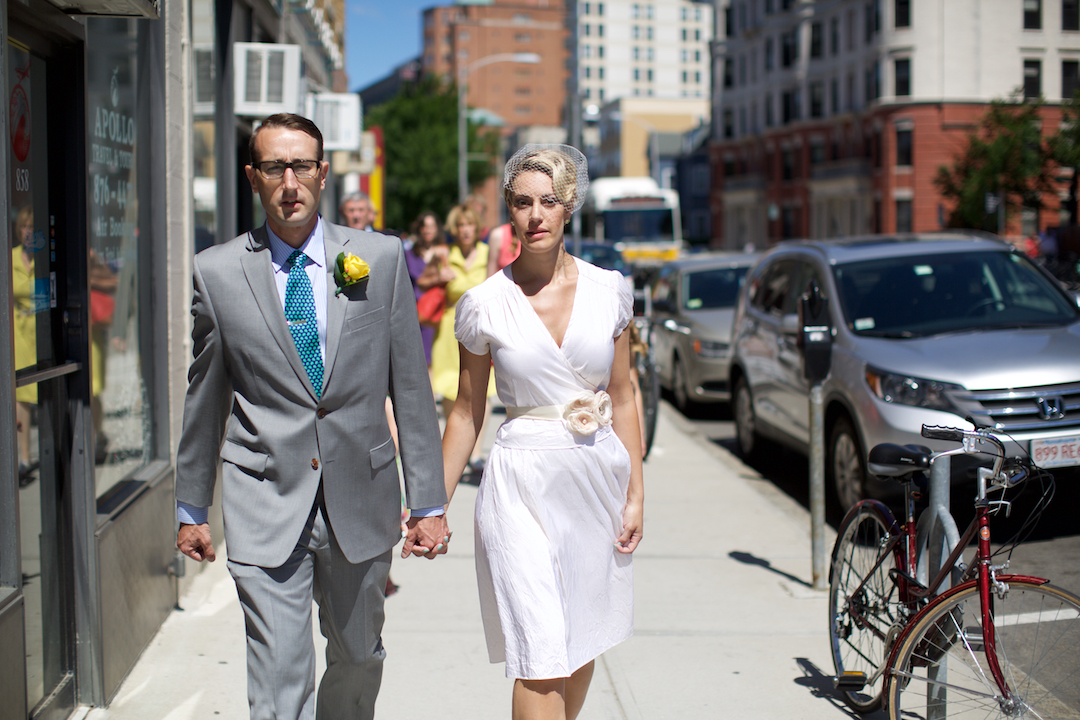 Walk to the ceremony