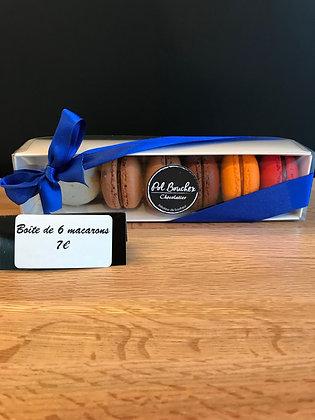 Macarons en boîte de 6