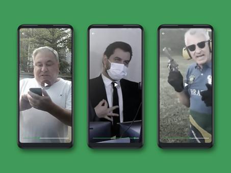 O Brasil do macho desgovernado: ele urra e usa um celular no lugar do tacape