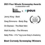 Best Comedy Screenplays, Four Minute Scr