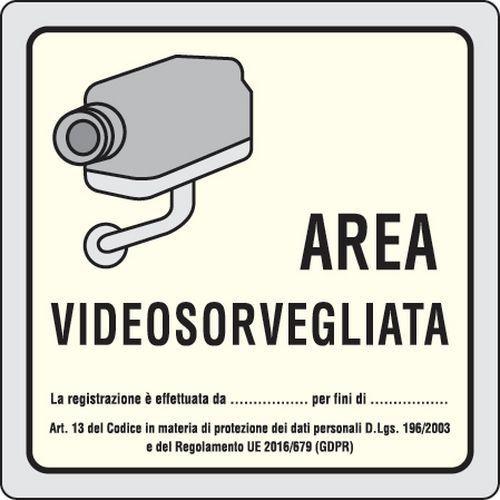 vecchio cartello videosorveglianza non a norma gdpr