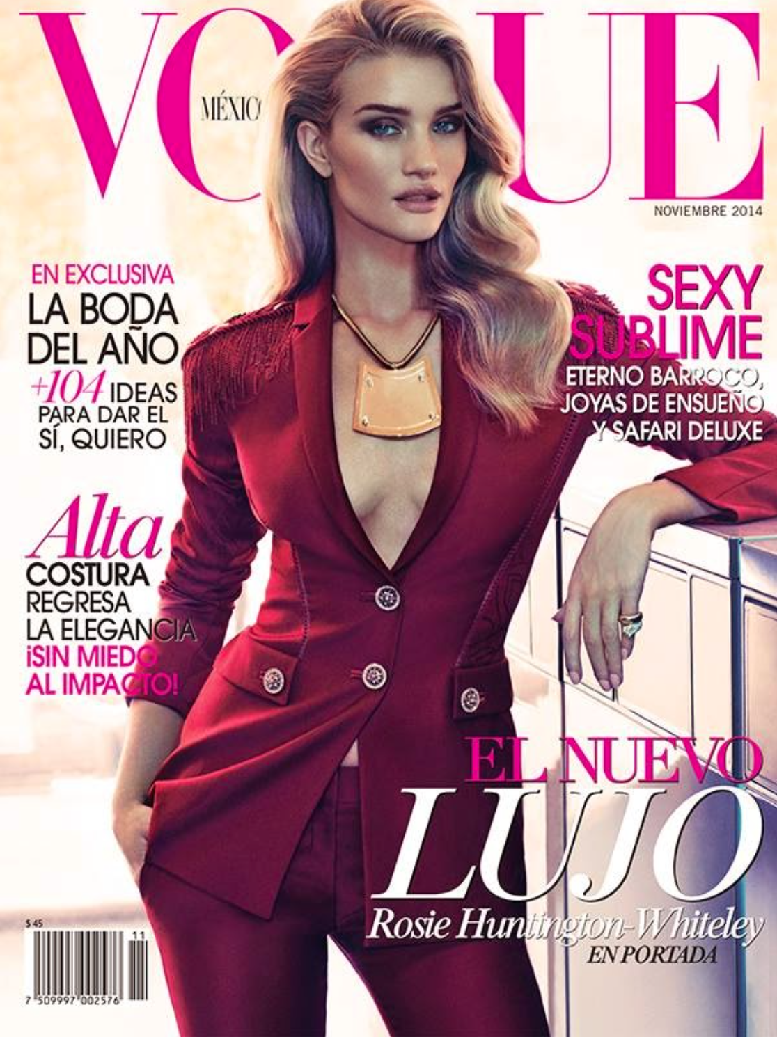 Rosie Huntington for Vogue Mexico