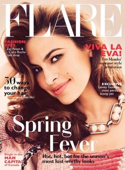 Eva Mendes for Flare
