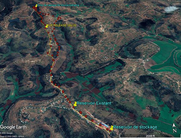 Tragitto acquedotto