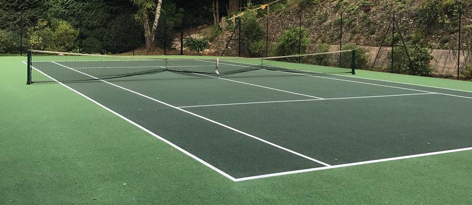 Tennis Court Colour Spraying | Peter A Housden | Hampshire, Sussex & Surrey