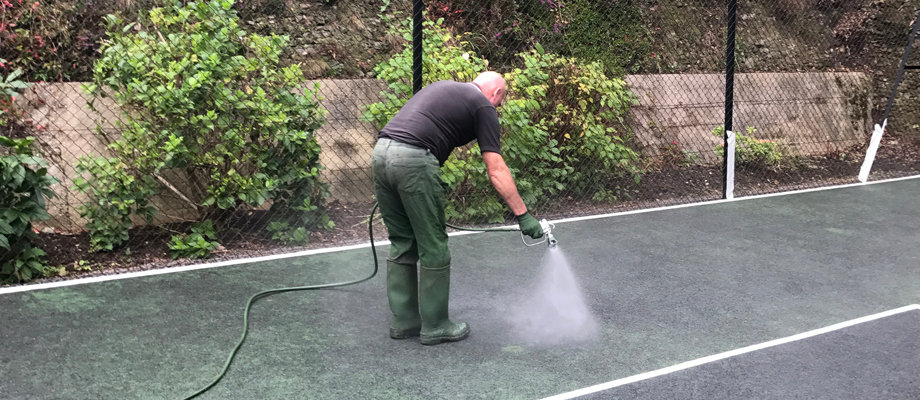 Tennis Court Surface Binding | Peter A Housden | Hampshire, Sussex & Surrey