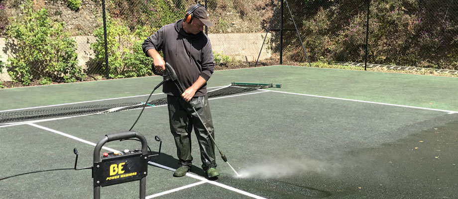 Pressure Washing & Tennis Court Cleaning | Peter A Housden | Hampshire, Sussex & Surrey