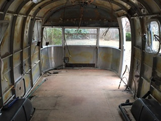 A Mostly Empty Trailer Shell