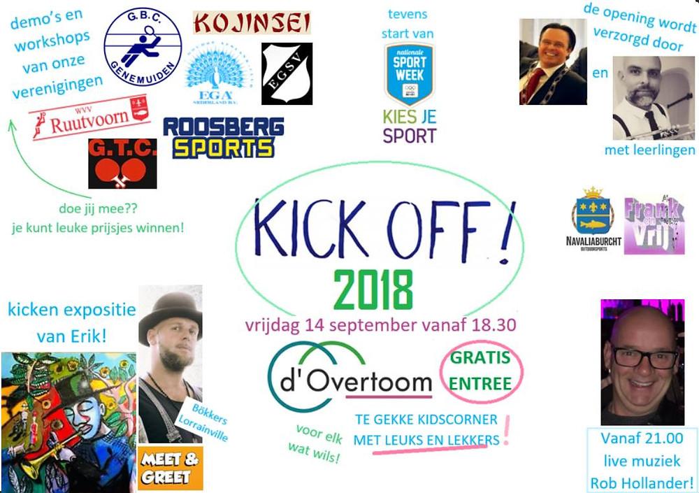 A.s. vrijdag 14 sept. vanaf 18.30 de Kick Off in de overtoom! Voor jong en oud hartstikke leuk! De buurtsportcoach is er bij. Jij ook!?