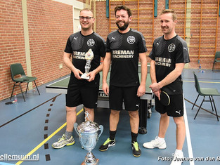 Breman Machinery is tafeltenniskampioen van Genemuiden