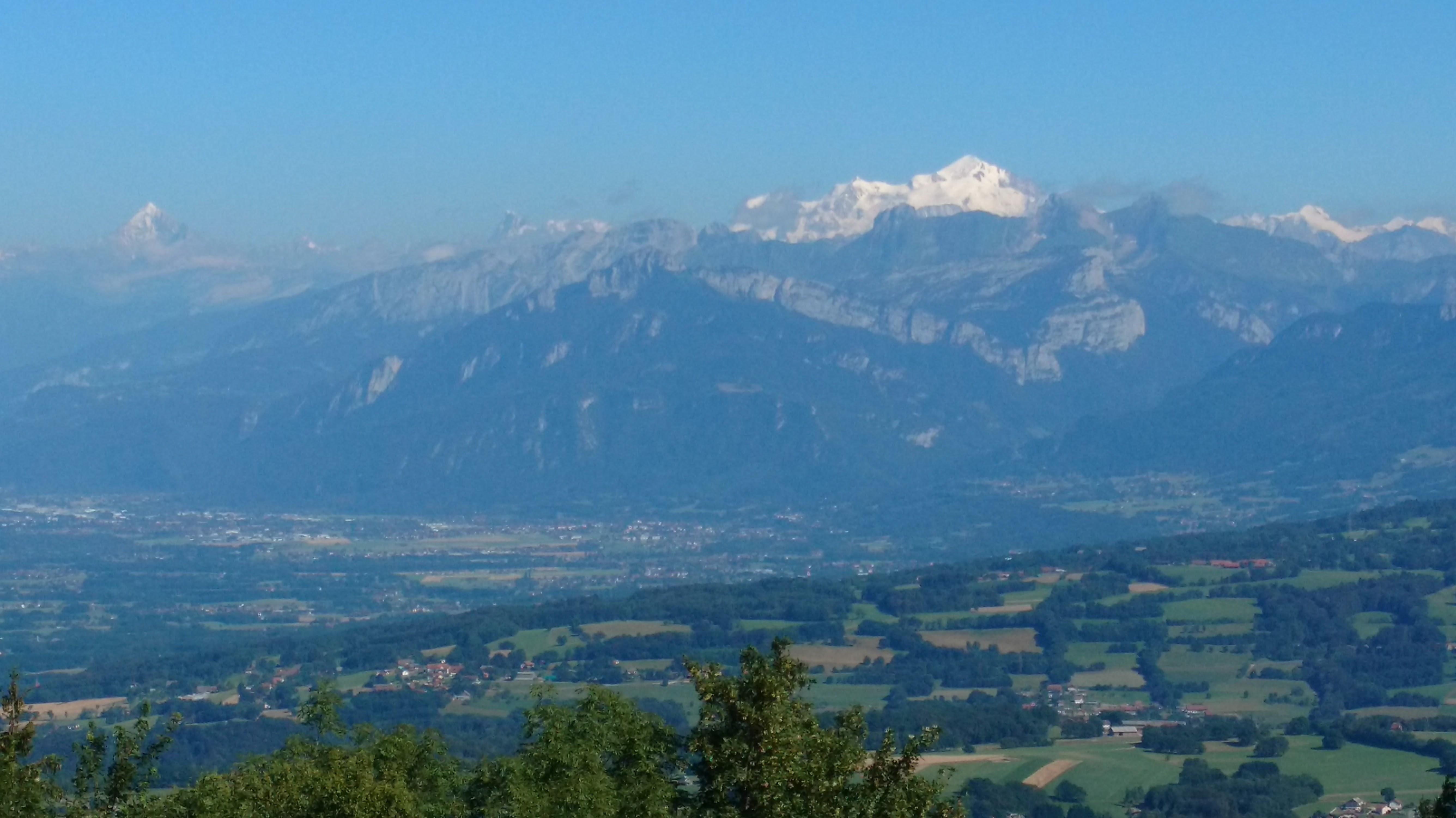 A 15min vue sur le Mt Blanc