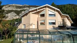 Perspective maison, piscine e Salève