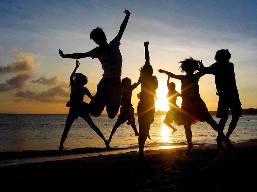 dansen in de zon