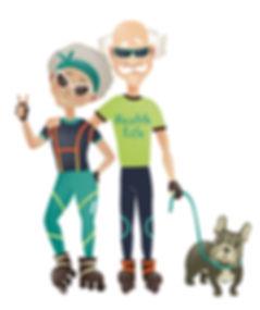 Opa en Oma buiten