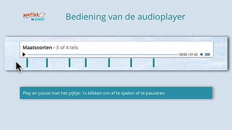 bediening van de audioplayer