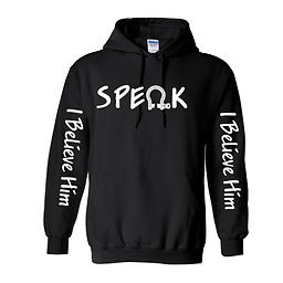 Zac Nuzum Speak Him Hoodie Black Front-0
