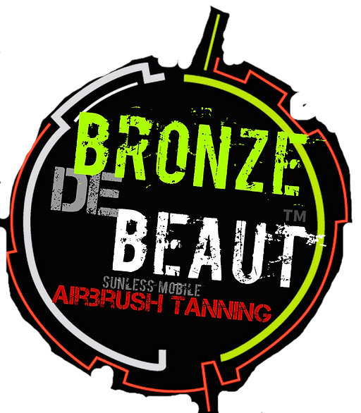 my business logo for bronze de beaut yellow red and white