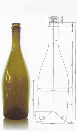 GS1032 Champagne Bottle