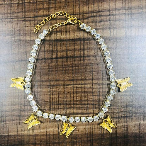 Pre-Order Butterfly Anklet ( Gold )