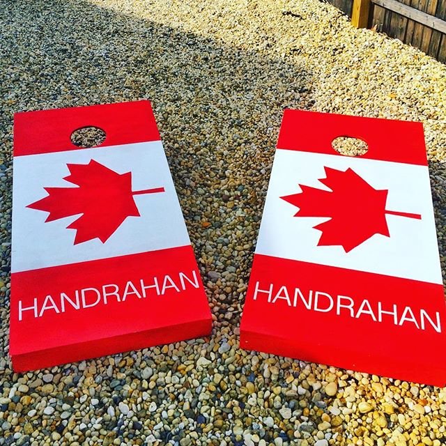 #AndAnotherOne 😎🎶 #OhCanada 🇨🇦#Woodworking #DoWoodworking #Handmade #BagGo #CornholeBoards #Cust