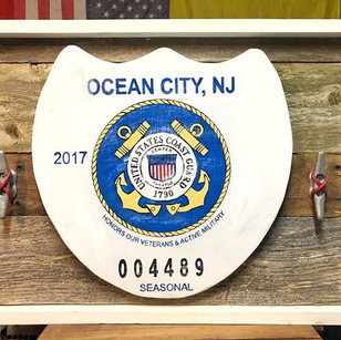 Ocean City Beach tag honoring our USGC ⚓