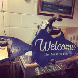 Custom welcome sign 🐠 I'd say aside fro
