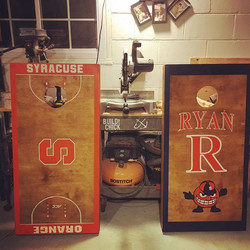 Order up☝🏼️🍊 Custom set of CornHole Boards ready for their new home ✌🏼️#GoSyracuse #HolidayOrders