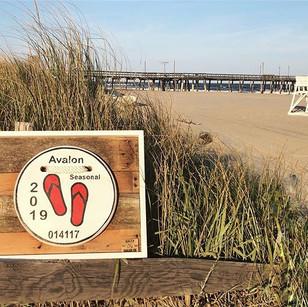 2019 Avalon NJ Wooden replica Beach Tag.