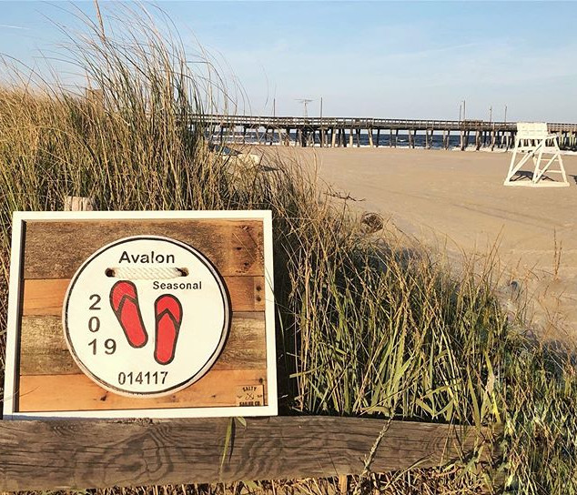 2019 Avalon NJ Wooden replica Beach Tag.