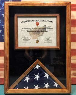Complete ✔️ US Marines Corps American Flag and certificate case. Love orders like this