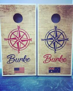 Custom order for a split country represented household 🇺🇸 🇦🇺 #HandPainted #Cornhole #CustomCornH