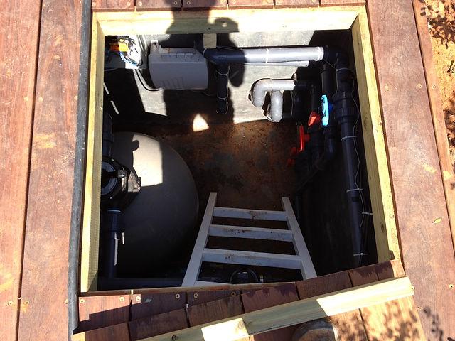 חדר מכונות לבריכה 6 מטר