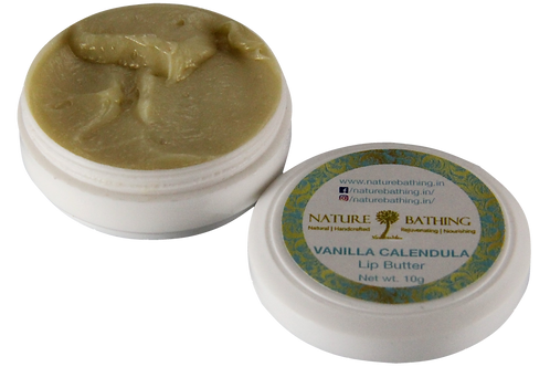 Lip Butter | Natural | Vanilla Calendula | Product View | Nature Bathing | India