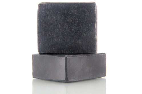 Handmade Soap | Natural | Khus & Activated Charcoal | Front View | Nature Bathing | India