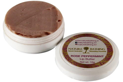 Lip Butter | Natural | Rose Peppermint | Product View | Nature Bathing | India