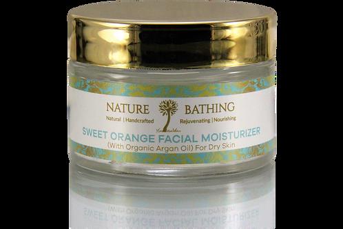 SWEET ORANGE FACIAL MOISTURIZER (With Organic Argan Oil) For Dry Skin