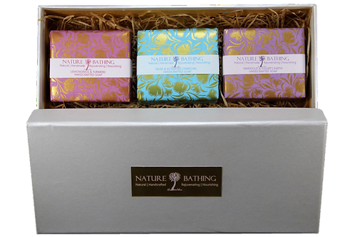 NATURE BATHING GIFT BOX OF 3 SOAPS