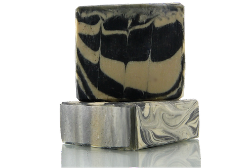 Handmade Soap | Natural | Musk & Activated Charcoal | Front View | Nature Bathing | India