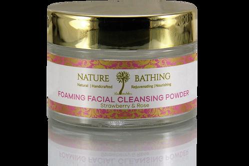 FOAMING FACIAL CLEANSING POWDER Strawberry & Rose