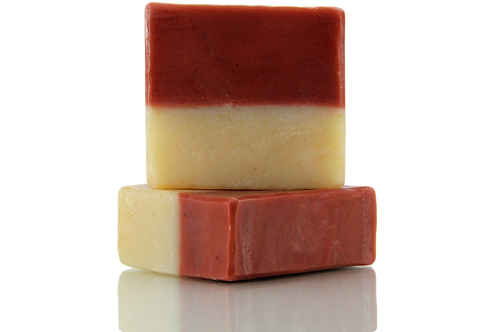 Handmade Soap | Natural | Oatmeal & French Pink Clay | Front View | Nature Bathing | India
