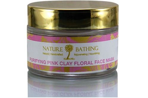 PURIFYING PINK CLAY FLORAL FACE MASK for Sensitive Skin