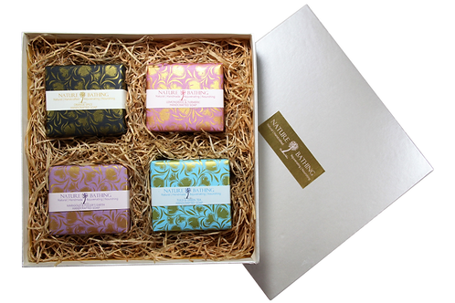 NATURE BATHING GIFT BOX OF 4 SOAPS