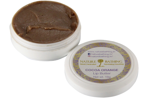 Lip Butter | Natural | Cocoa Orange | Product View | Nature Bathing | India