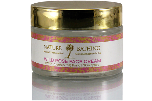 WILD ROSE FACE CREAM (With Rosehip Oil) For All Skin Types