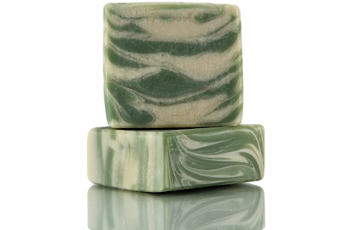 Handmade Soap | Natural | Jasmine & French Green Clay | Front View | Nature Bathing | India