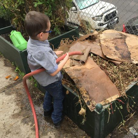 Van Ness: Watering compost to make good fertilizer