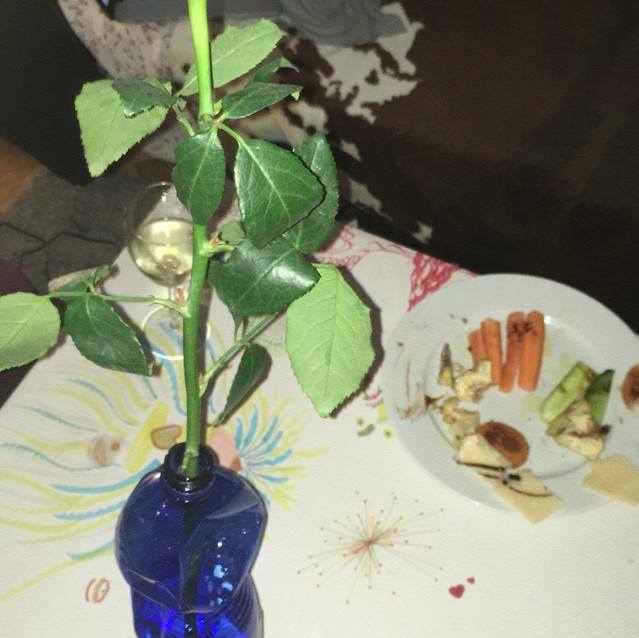 j'ai reçu une rose!
