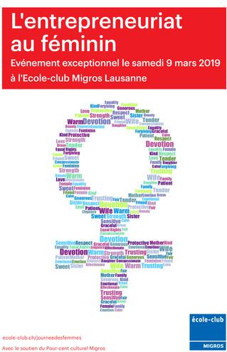 Apéritif à La journée Internationale des droits de la femme, de l'école club Migros 9 mars 2019