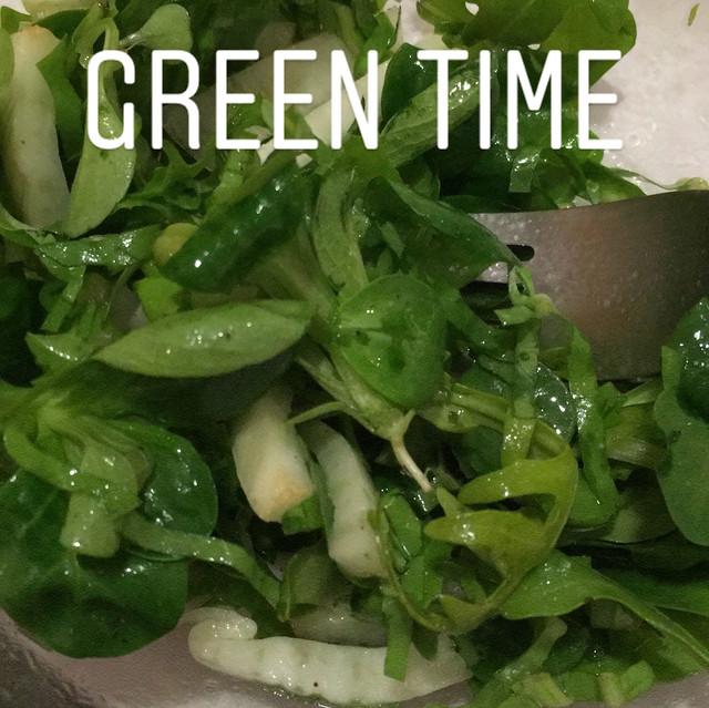 un peu de verdure après tout ce gras