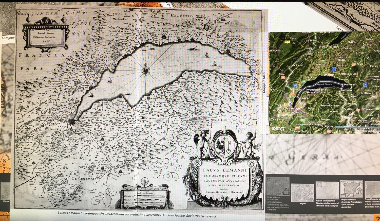 ancienne carte du lac léman